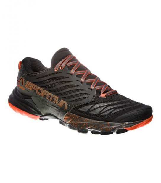 ZAPATILLAS TRAIL AKASHA BLACK/TANGERINELA SPORTIVA