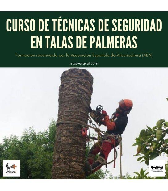 """CURSO DE """"TÉCNICAS DE SEGURIDAD EN TALAS DE PALMERAS"""""""